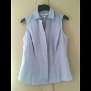 NWOT FoxCroft Button Up Sleeveless Blouse